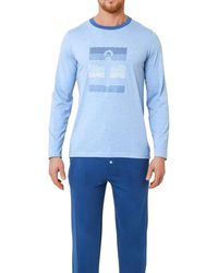 Mariner Pyjama long Pyjamas / Chemises de nuit - Bleu