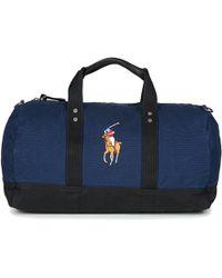 d374aeb619 Polo Ralph Lauren - Pp Duffle-duffle-medium Men s Travel Bag In Blue -