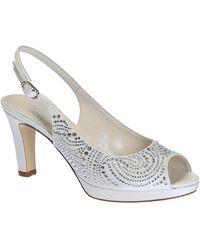 Leonardo Shoes Sandalen S2607 Satin Bianco T 2905p F Luana - Wit