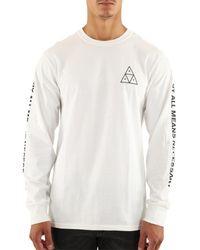 Huf T-Shirt manches longues ESSENTIALS TT L/S T-shirt - Blanc