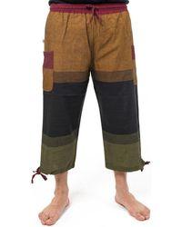Fantazia Pantacourt bermuda baggy cool Bukhet Pantalon - Multicolore