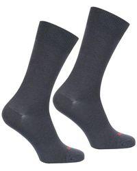 EMINENCE Lot de 2 paires de chaussettes homme Modal hommes Chaussettes en Gris