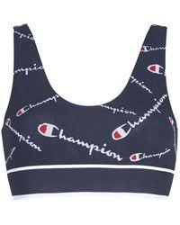 Champion Reggiseno Sportivo Seamless Bralette - Blu