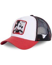 Capslab Casquette Casquette Disney Mickey Blanc et Rouge