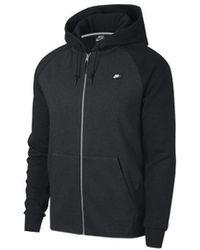 Nike Sweater M Nsw Optic Hoodie Fz - Zwart
