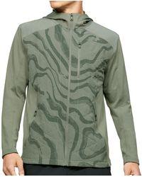 Under Armour Sweater Coldgear Reactor Hybrid Lite Printed Jacket - Groen