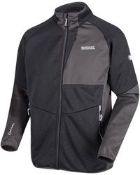 Regatta Foley Hybrid Stretch Softshell Jacket Black Tracksuit Jacket