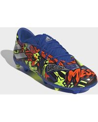 adidas Chaussures de foot Chaussure Nemeziz Messi 19.3 Terrain souple - Bleu