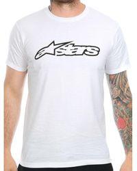 Alpinestars White-black Blaze T-shirt T Shirt