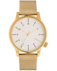 Komono Horloge Winston Royale Gold-white - Metallic