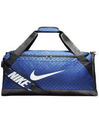 Nike Bolsa de deporte Brasilia Medium Duffel Bag Aop - Azul