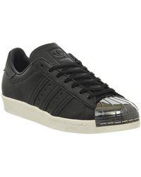 Lyst Adidas Superstar Degli Anni '80, I Suede E Scarpe Originali Di Metallo In Grigio.