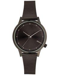 Komono Horloge - Estelle Royale Royale Black-silver - Zwart