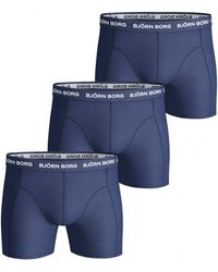 Björn Borg 3-Pack Boxers Solids Navy - Azul