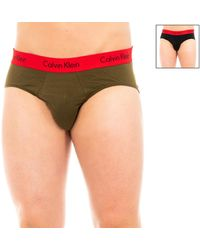 Calvin Klein Braguitas Pack-2 Slips Calvin Klein - Verde