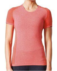 adidas T-shirt Primeknit Wool Tee Women - Rose