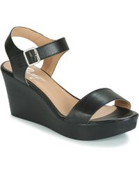 e7f1d799084 Schutz Evy Espadrille Wedge Sandals - Black in Black - Lyst