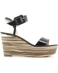 Guess - Fldy22 Paf03 Wedge Sandals Women Black Women's Sandals In Black - Lyst