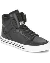 Supra Zapatillas altas VAIDER CLASSIC - Negro
