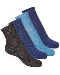 André Shine Socks - Blue