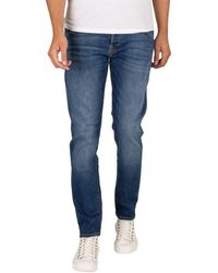 Jack & Jones Jeans Jean slim Glenn Fox 204 - Bleu
