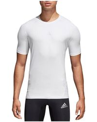 adidas - Alphaskin hommes T-shirt en blanc - Lyst