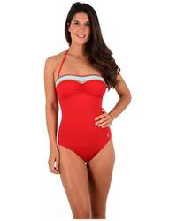 Morgan Maillot de bain 1 pièce bustier portofino femmes Maillots de bain en rouge