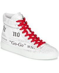 John Galliano Hoge Sneakers 2245a - Wit