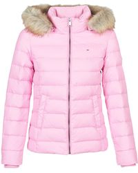 Tommy Hilfiger Donsjas Tjw Essential Hooded Down Jacket - Roze