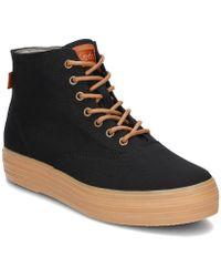 Keds - Triple Hi Women's Low Ankle Boots In Black - Lyst