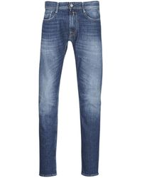 Replay Straight Jeans Rob - Blauw