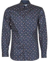SELECTED Camisa manga larga SLHSLIMNEW-MARK - Azul