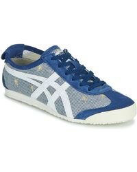 Onitsuka Tiger Lage Sneakers Mexico 66 Midnight - Blauw