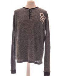 Desigual T-shirt Manches Longues 40 - T3 - L T-shirt - Gris