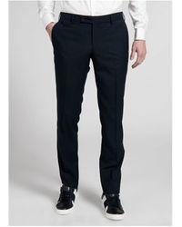 Jerem Pantalons de costume Pantalon de costume à fines rayues - Bleu