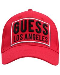 Guess Cap logo Casquette - Rouge