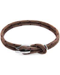 Anchor & Crew - Anchor Crew Bracelet Padstow Argent Et Corde Bracelets - Lyst