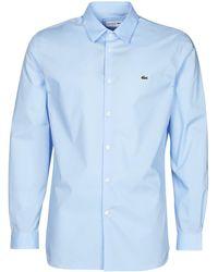 Lacoste Camisa manga larga PITTA - Azul