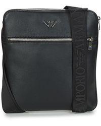 Emporio Armani Handtasje Business Flat Messenger Bag - Zwart