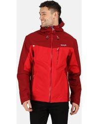 Regatta Birchdale Waterproof Hooded Walking Jacket Red Coat