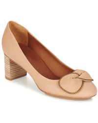 See By Chloé Sb28146 Women's Court Shoes In Beige - Natural