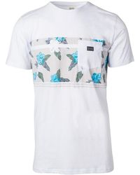 Rip Curl - Retro Block Tee Ctech5 Men's T Shirt In White - Lyst