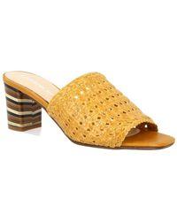 Leonardo Shoes Sandalias 30CINZIA INTRECCIO OCRA - Amarillo