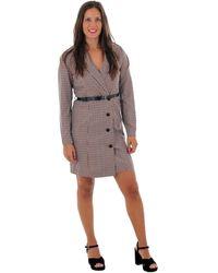 Vero Moda 10220439 VMALICIA L/S SHORT DRESS TOBACCO BROWN SMALL Robe - Neutre
