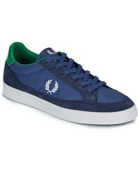 Fred Perry Lage Sneakers Deuce Poly - Blauw