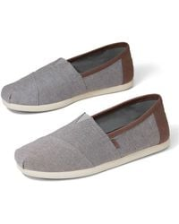 TOMS Alpargatas Classic Frost Grey Chambray - Gris