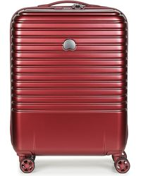 Delsey Reiskoffer Caumartin Plus Valise Trolley Cabine Slim 4 Doubles Roues 55 Cm - Rood