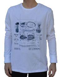 Timberland LS ICONS MAGLIA BIANCA T-shirt - Blanc