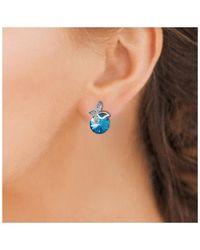 Sc Crystal B1280-BO-BLEU+E000 Boucles oreilles