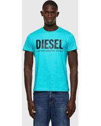 DIESEL 00SXED 0AAXJ T-DIEGO-LOGO T-shirt - Bleu